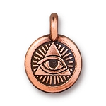 TierraCast Eye of Providence Charm, Antiqued Copper